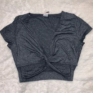 Gray crop top!